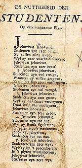 Ik begrijp hier geen ene reet van, wat wij hier eigenlijk zingen...  Het gaat over het leven...  Ik heb hier een of andere ouderwetse Nederlandse versie...  Even proberen...  Ik geef het aan in Bes, dan overmaken naar G en transporteren B...  Dat is inderdaad wel een ouderwetse tekst...  Oprecht braaf? Als 'ie maar recht staat...  Mogen we nu naar de bierpomp?